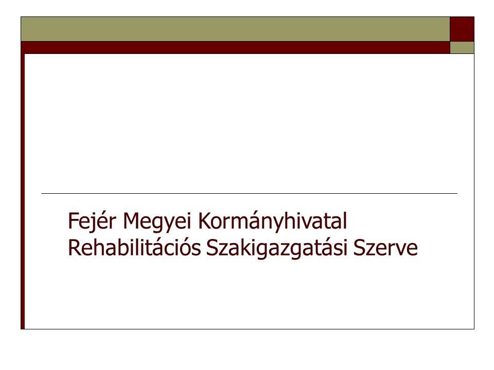 Fejér Megyei Kormányhivatal Rehabilitációs Szakigazgatási Szerve