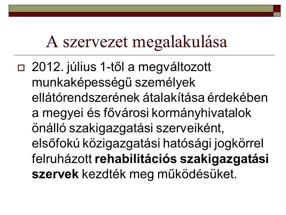 A szervezet megalakulása  2012.