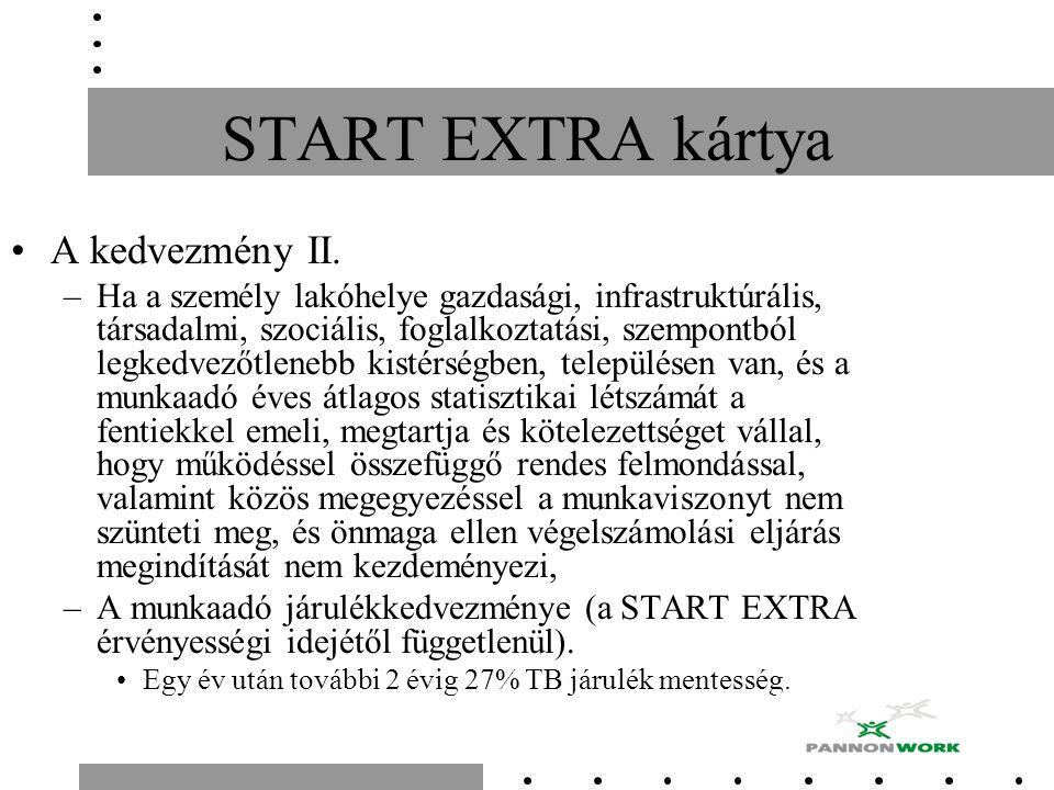 START EXTRA kártya A kedvezmény II.
