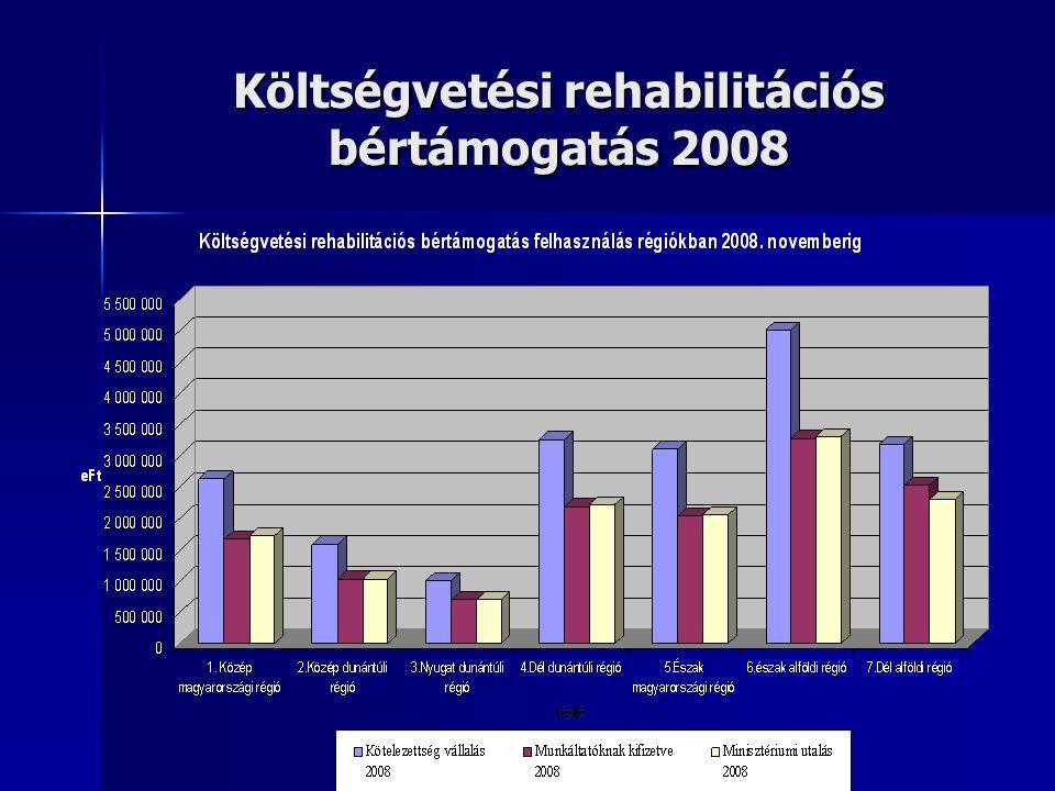 Költségvetési rehabilitációs bértámogatás 2008