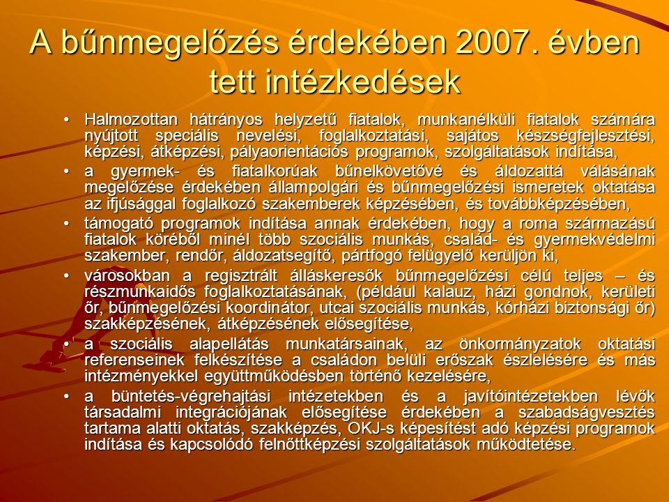 A bűnmegelőzés érdekében 2007.