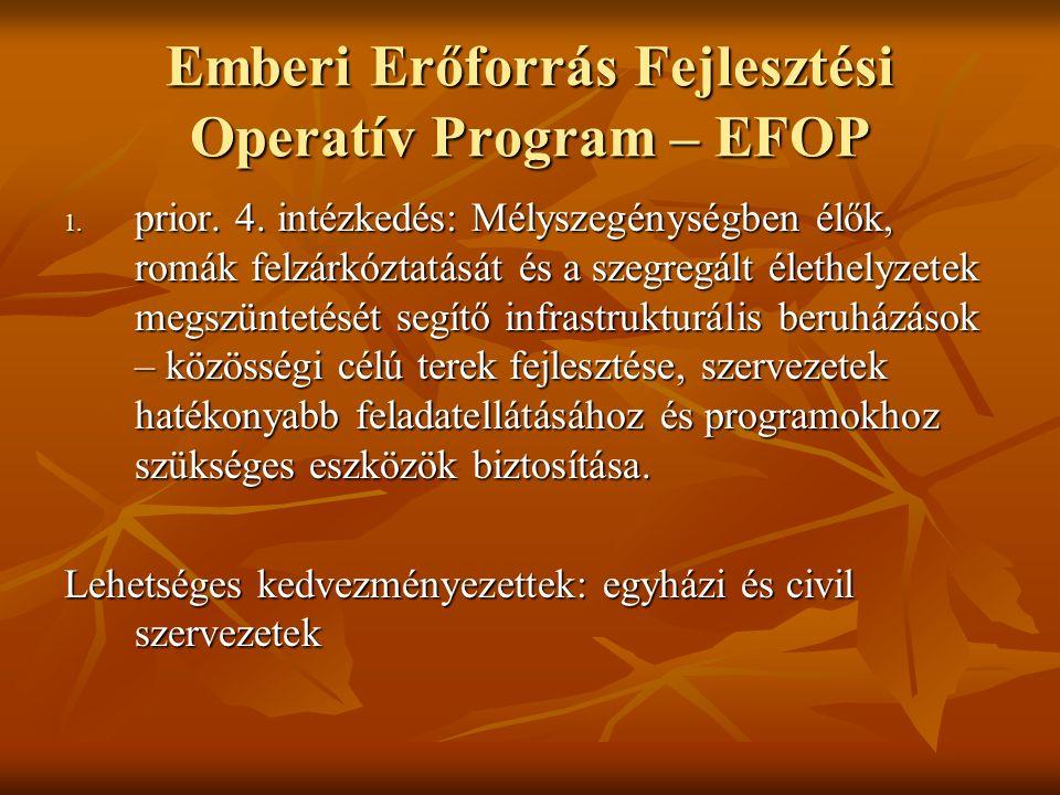 Emberi Erőforrás Fejlesztési Operatív Program – EFOP 1.