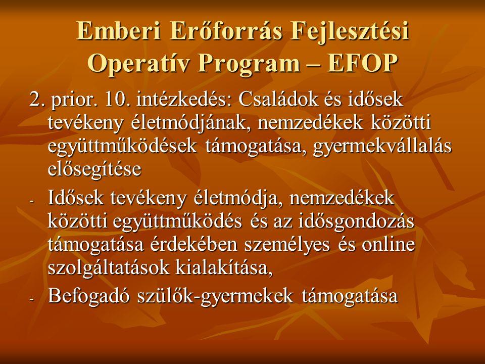 Emberi Erőforrás Fejlesztési Operatív Program – EFOP 2.