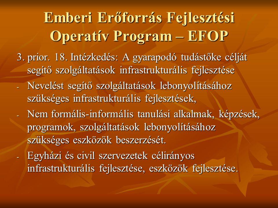 Emberi Erőforrás Fejlesztési Operatív Program – EFOP 3.