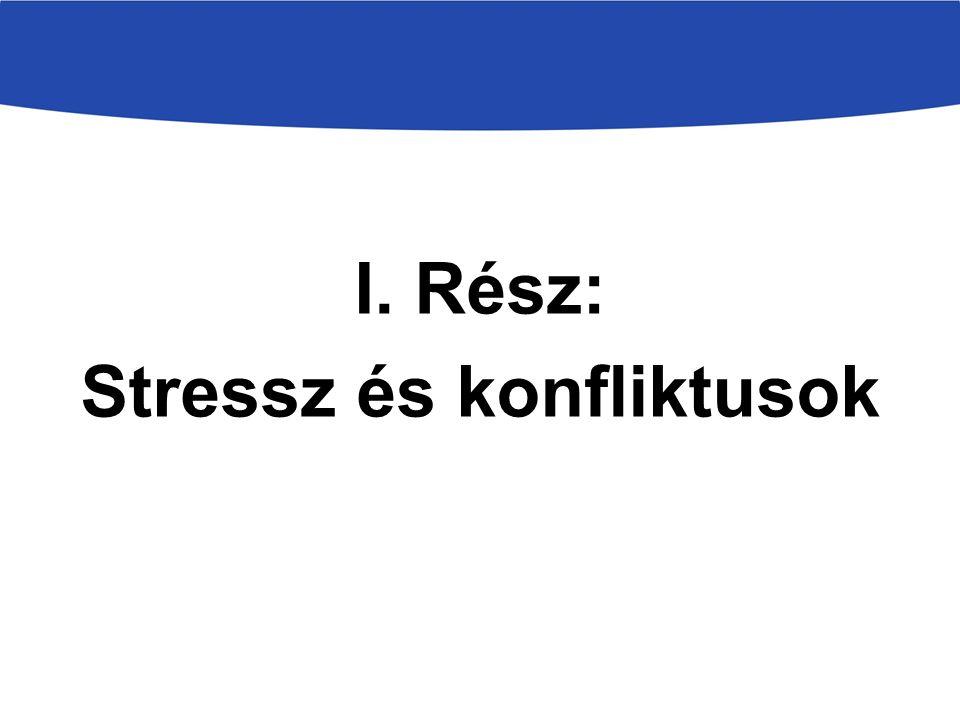 I. Rész: Stressz és konfliktusok