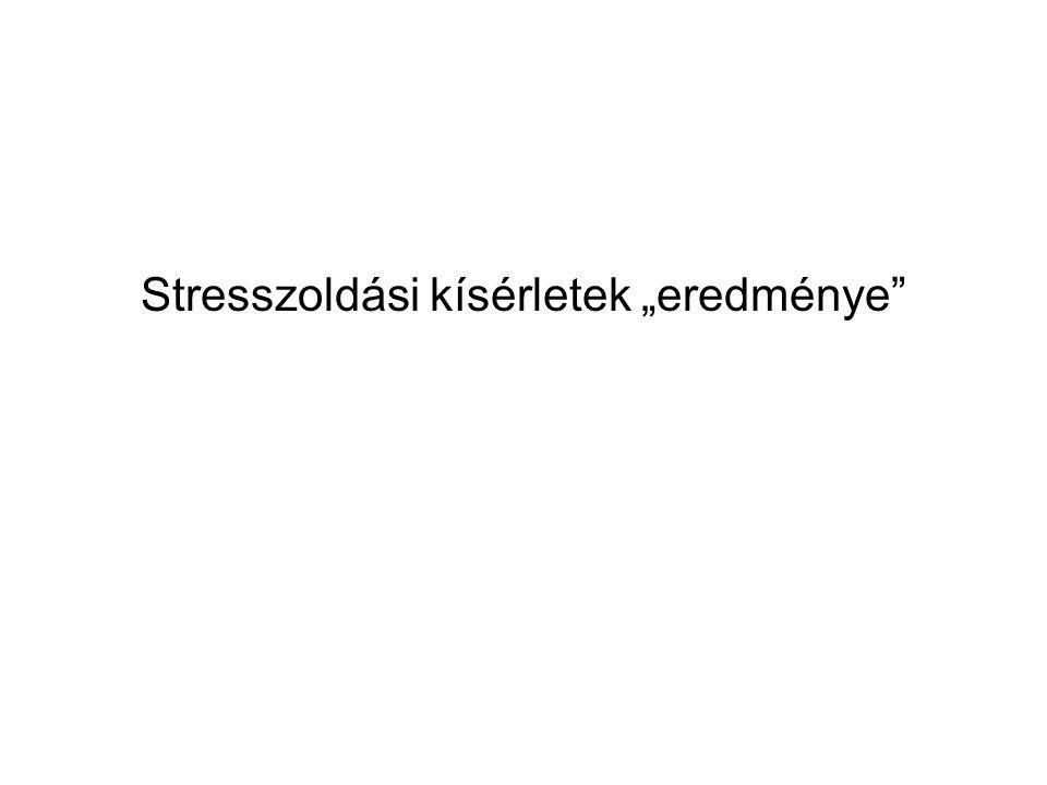 """Stresszoldási kísérletek """"eredménye"""""""