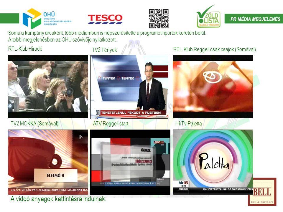 PR MÉDIA MEGJELENÉS RTL-Klub Híradó TV2 Tények RTL-Klub Reggeli csak csajok (Somával) TV2 MOKKA (Somával)ATV Reggeli startHírTv Paletta A videó anyagok kattintásra indulnak.