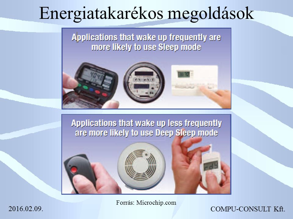 Energiatakarékos megoldások COMPU-CONSULT Kft. Forrás: Microchip.com 2016.02.09.