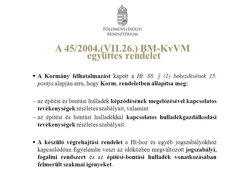 A Kormány felhatalmazást kapott a Ht. 88. § (1) bekezdésének 15.