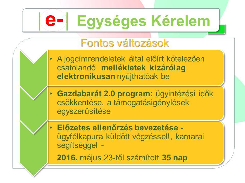 Előzetes ellenőrzés bevezetése - ügyfélkapura küldött végzéssel!, kamarai segítséggel - 2016. május 23-től számított 35 nap Fontos változások Gazdabar