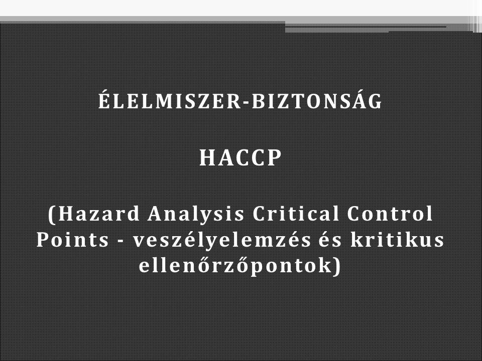 ÉLELMISZER-BIZTONSÁG HACCP (Hazard Analysis Critical Control Points - veszélyelemzés és kritikus ellenőrzőpontok)