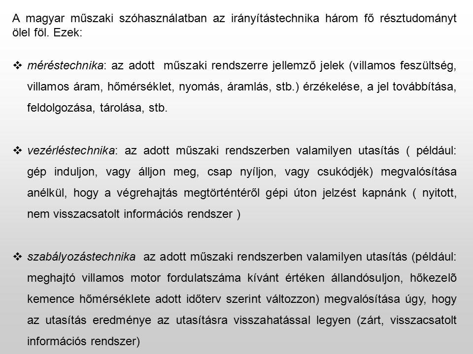 A magyar műszaki szóhasználatban az irányítástechnika három fő résztudományt ölel föl.