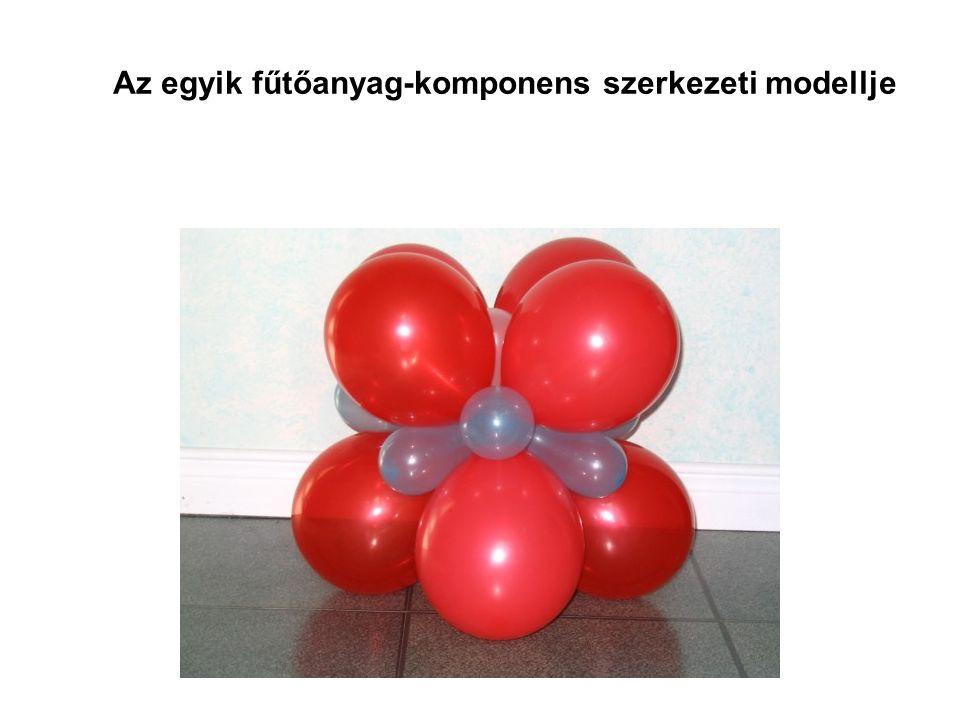 Az egyik fűtőanyag-komponens szerkezeti modellje