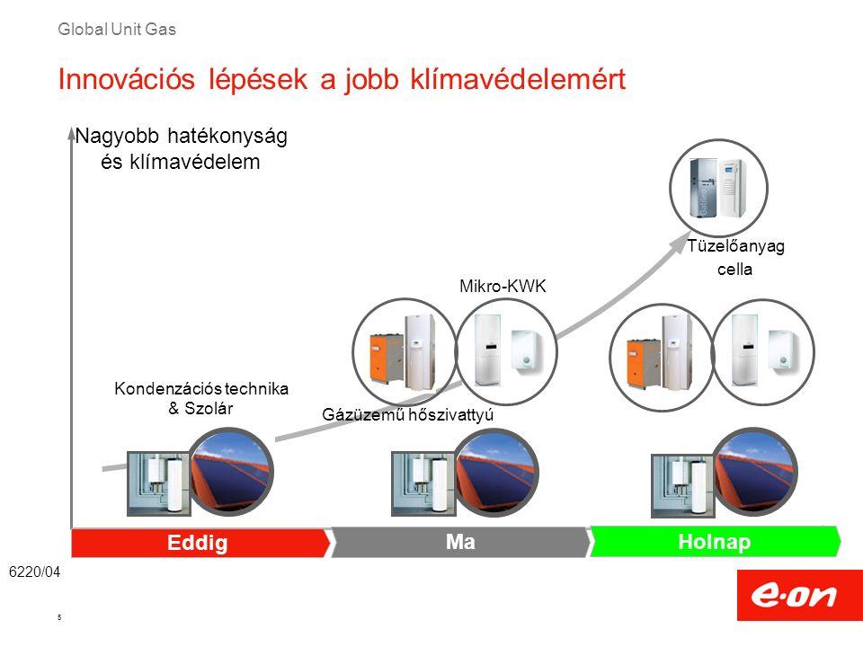Global Unit Gas 5 Kondenzációs technika & Szolár Tüzelőanyag cella Mikro-KWK Nagyobb hatékonyság és klímavédelem 6220/04 Innovációs lépések a jobb klí