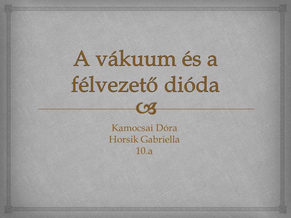 Kamocsai Dóra Horsik Gabriella 10.a