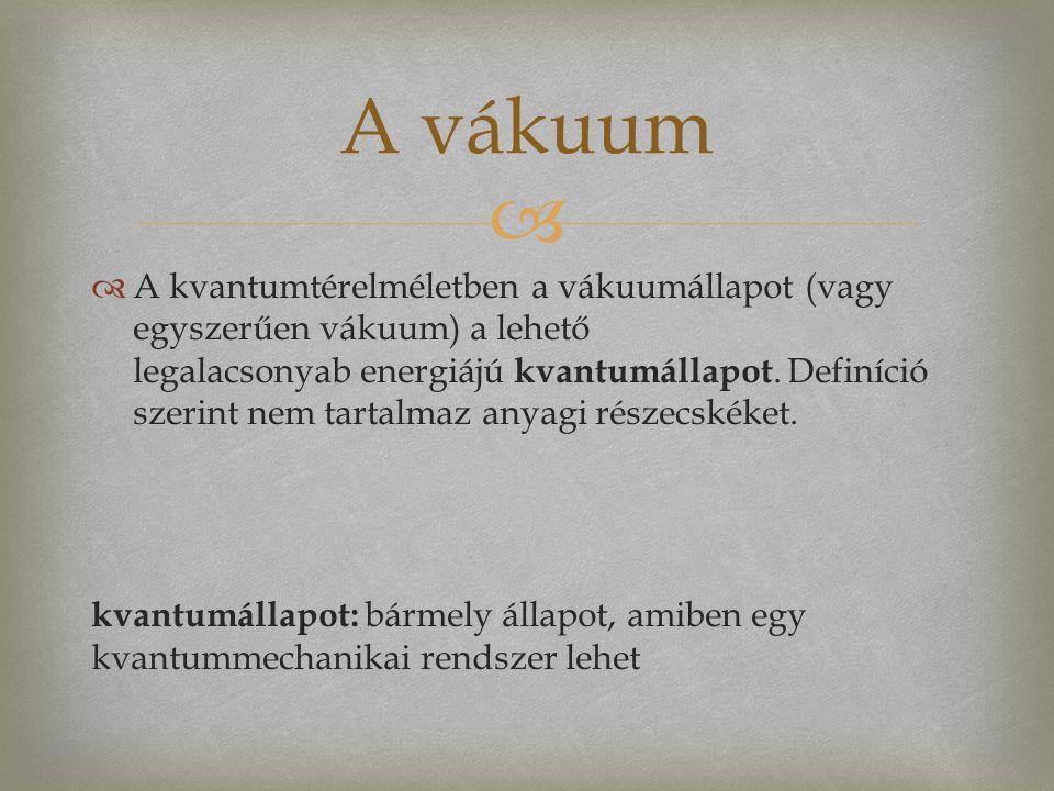   A kvantumtérelméletben a vákuumállapot (vagy egyszerűen vákuum) a lehető legalacsonyab energiájú kvantumállapot.