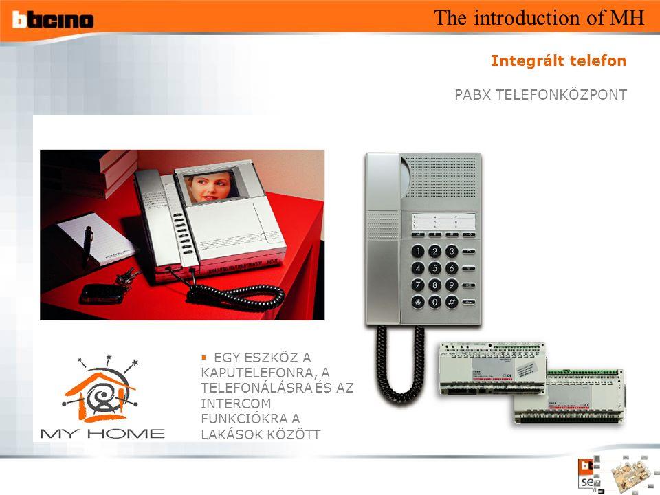 The introduction of MH  EGY ESZKÖZ A KAPUTELEFONRA, A TELEFONÁLÁSRA ÉS AZ INTERCOM FUNKCIÓKRA A LAKÁSOK KÖZÖTT Integrált telefon PABX TELEFONKÖZPONT