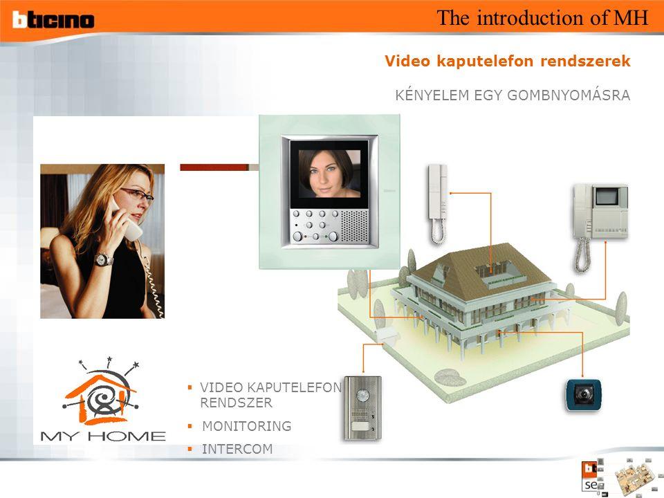 The introduction of MH  VIDEO KAPUTELEFON RENDSZER  MONITORING  INTERCOM Video kaputelefon rendszerek KÉNYELEM EGY GOMBNYOMÁSRA