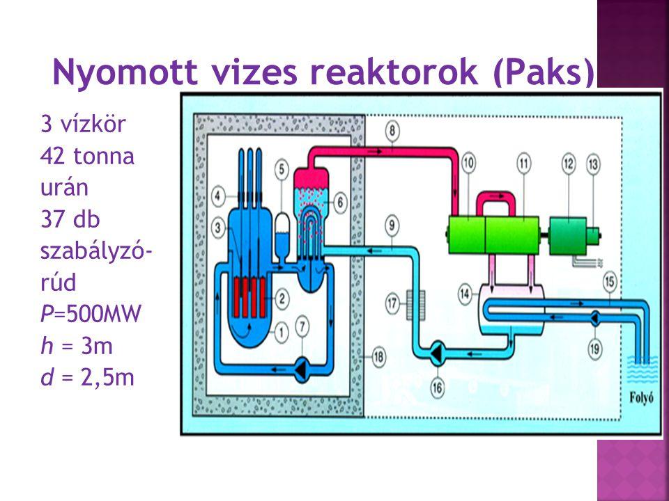 Forralóvizes reaktor boiling water reactor (BWR) 1.