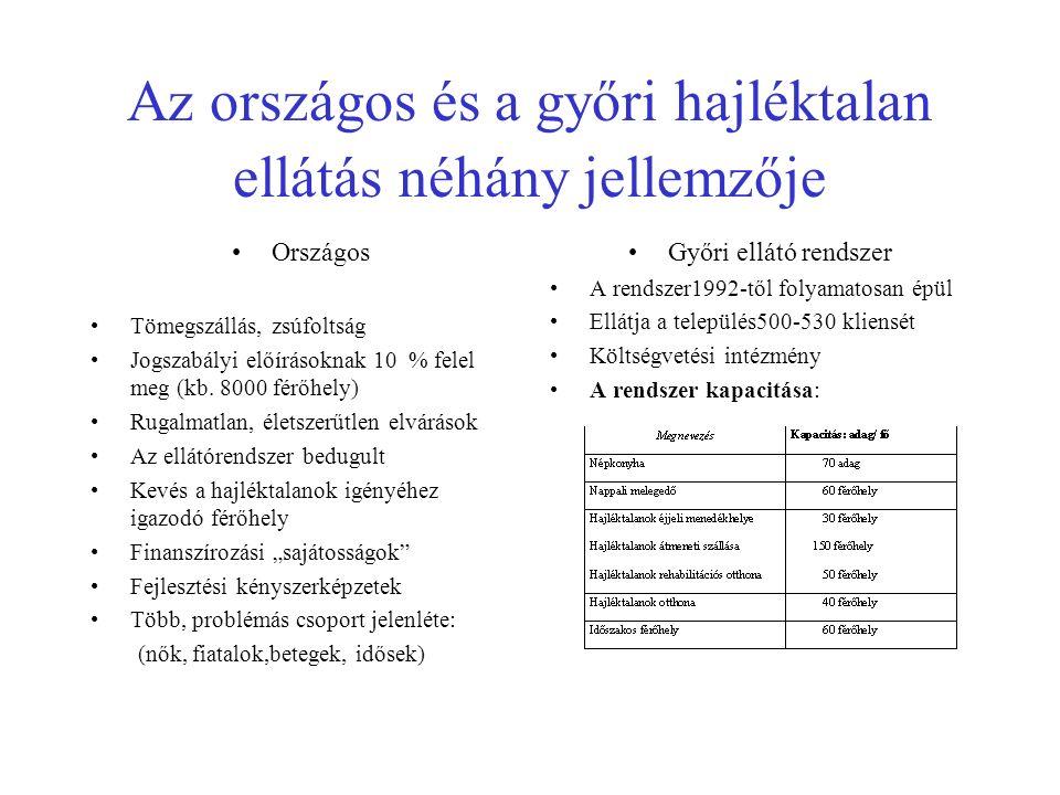 Hajléktalanok rehabilitációs otthon férőhelyei Magyarország 2006