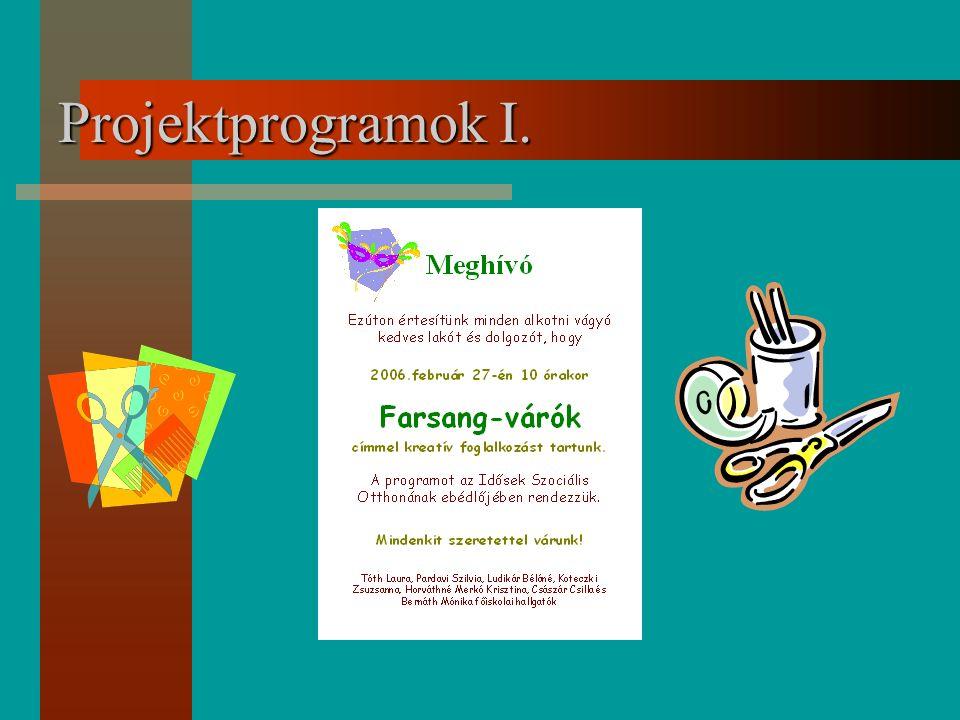 Projektprogramok I.