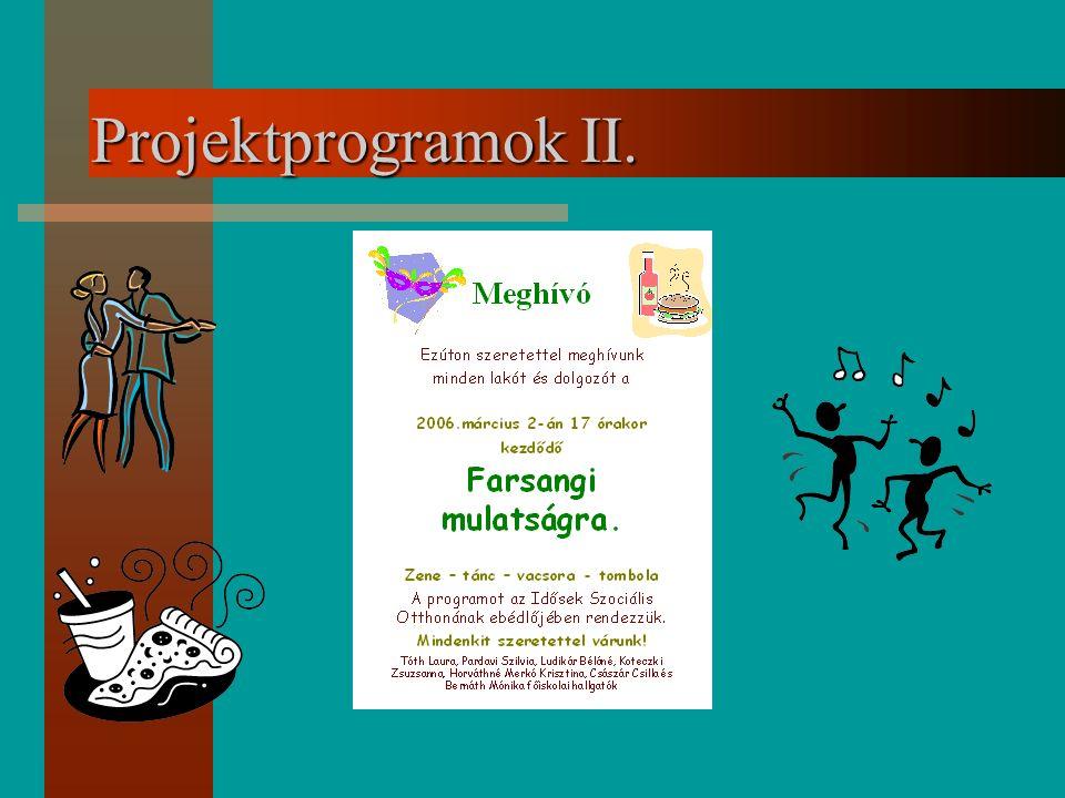 Projektprogramok II.