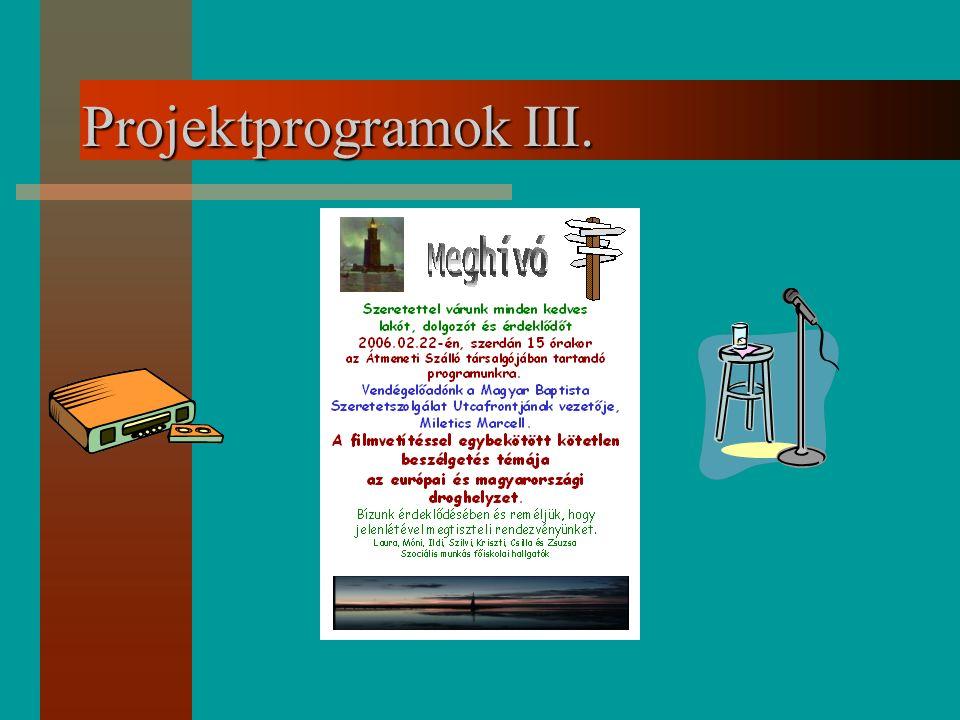 Projektprogramok III.