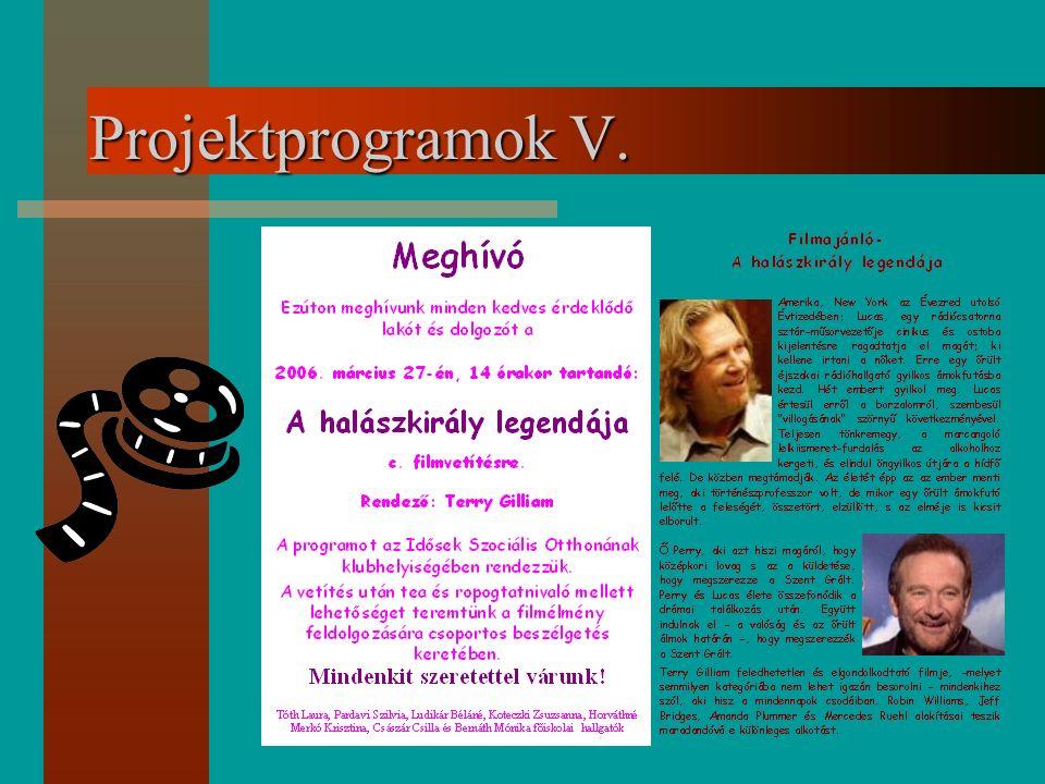 Projektprogramok V.