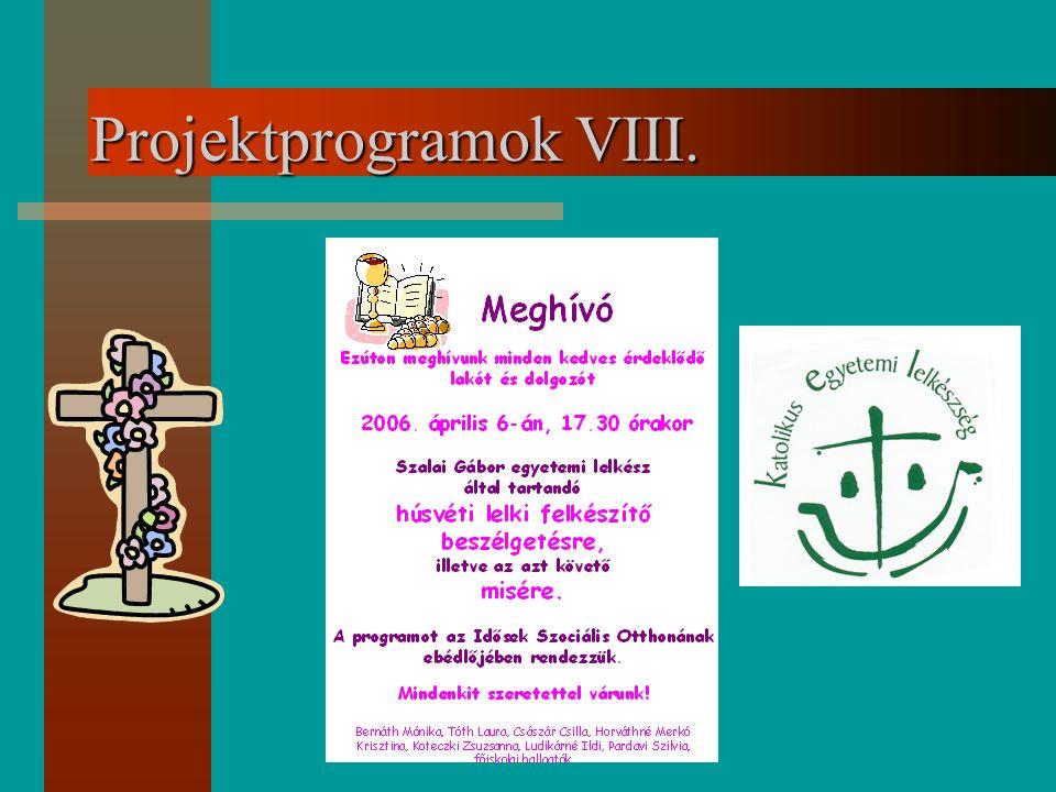 Projektprogramok VIII.