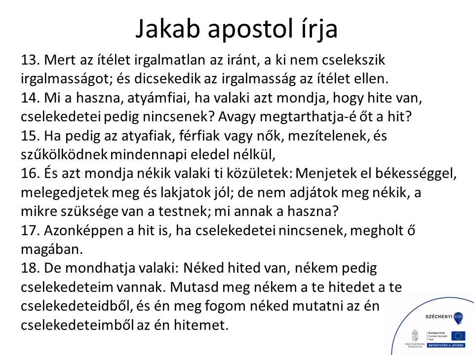 Jakab apostol írja 13.