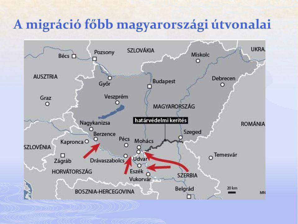 A migráció főbb magyarországi útvonalai