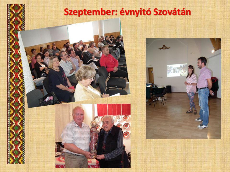 Szeptember: évnyitó Szovátán