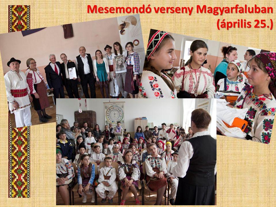 Mesemondó verseny Magyarfaluban (április 25.)