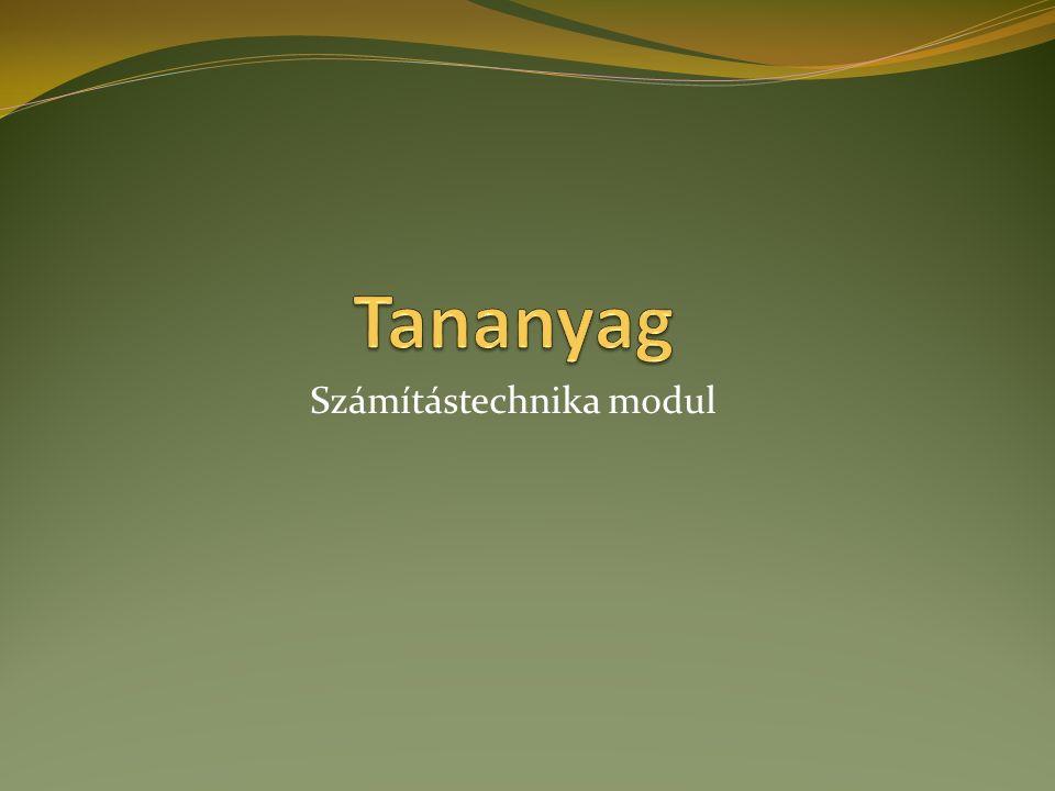 Számítástechnika modul