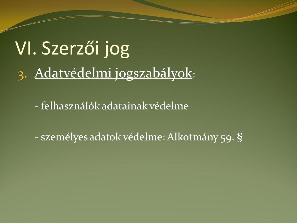 VI. Szerzői jog 3.