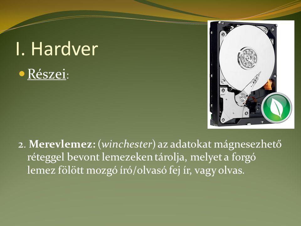 I. Hardver Részei : 2.
