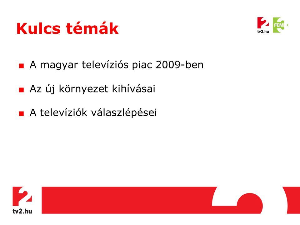 Kulcs témák ■ A magyar televíziós piac 2009-ben ■ Az új környezet kihívásai ■ A televíziók válaszlépései