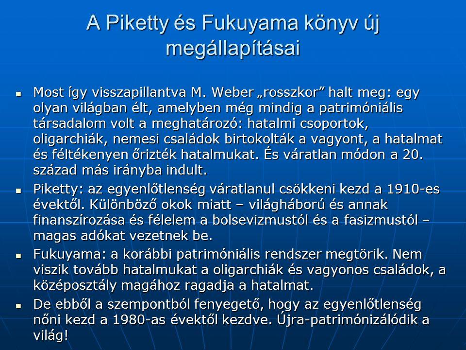 A Piketty és Fukuyama könyv új megállapításai Most így visszapillantva M.
