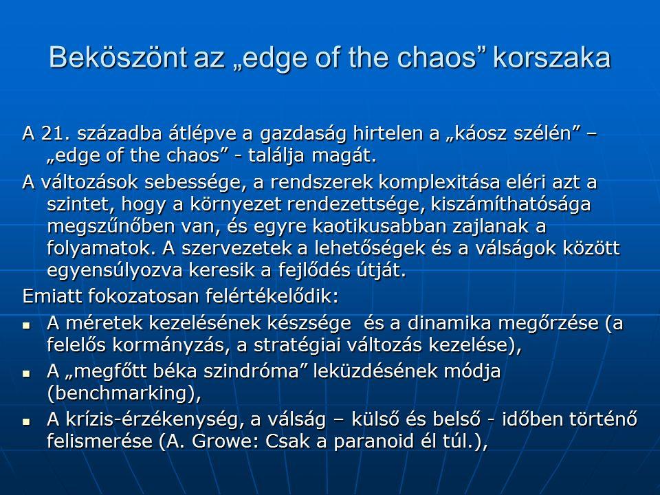 """Beköszönt az """"edge of the chaos korszaka A 21."""