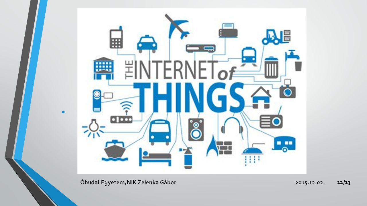 Internet of Things 2015.12.02.Óbudai Egyetem,NIK Zelenka Gábor 12/13