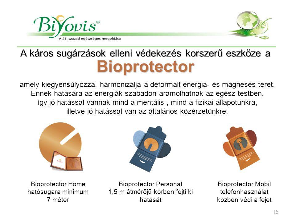 A káros sugárzások elleni védekezés korszerű eszköze a Bioprotector amely kiegyensúlyozza, harmonizálja a deformált energia- és mágneses teret. Ennek