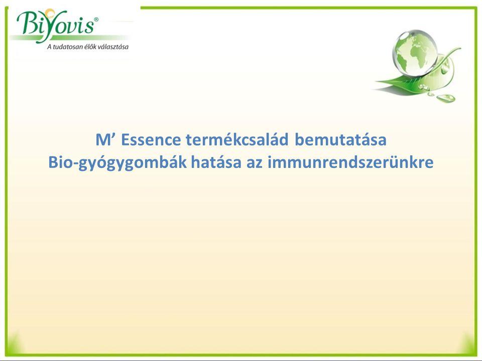 M' Essence termékcsalád bemutatása Bio-gyógygombák hatása az immunrendszerünkre