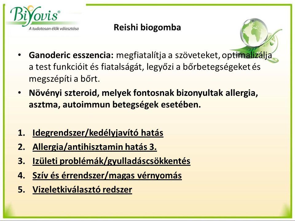 Reishi biogomba Ganoderic esszencia: megfiatalítja a szöveteket, optimalizálja a test funkcióit és fiatalságát, legyőzi a bőrbetegségeket és megszépíti a bőrt.