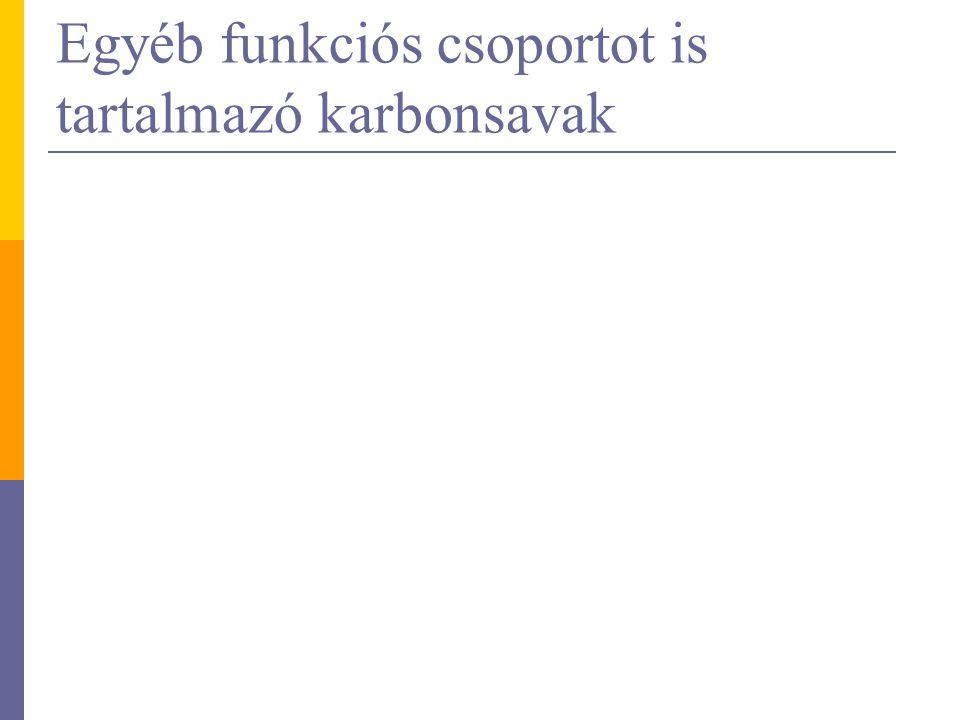 Egyéb funkciós csoportot is tartalmazó karbonsavak