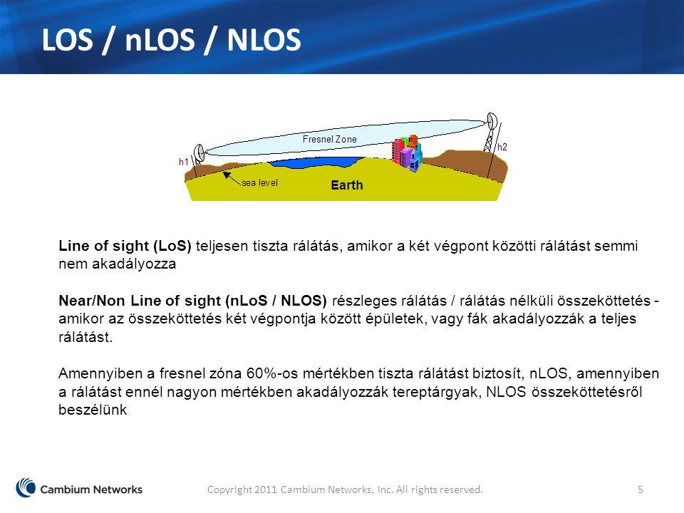 LOS / nLOS / NLOS Copyright 2011 Cambium Networks, Inc.