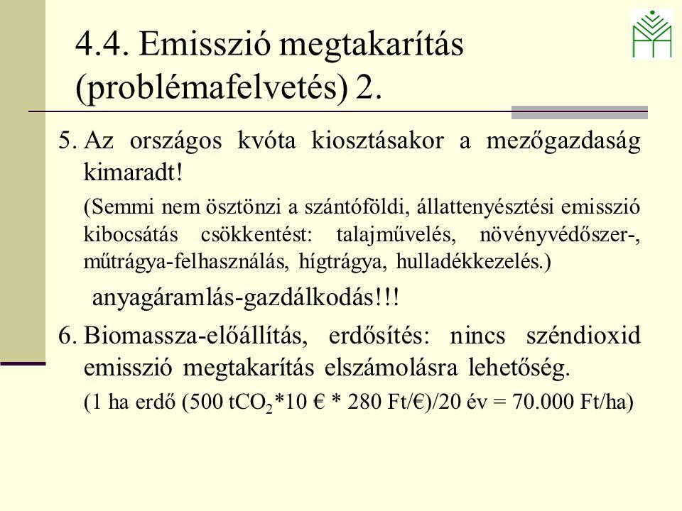 4.4. Emisszió megtakarítás (problémafelvetés) 2.