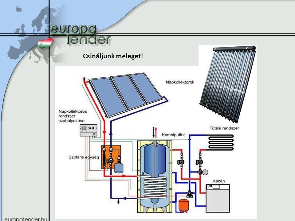 Megújuló energia felhasználását támogató pályázatok és azok szakmai kritériumai Helyi hő és hűtési igény kielégítése megújuló energiaforrásokkal – A beruházással érintett épület minimum C energetikai kategóriás – Támogatás 1-1000 MFt között – Intenzitás: Vállalkozások (csak KKV) max:30-50%, önkormányzatok 85%, egyéb 60% – Főbb korlátozások és kizáró okok az épületenergetikai pályázatban foglaltak szerint – Támogatott a saját célú energiahordozó előállítására vonatkozó beruházás is (pellet, biobrikett, olaj, biogáz, biometán, etanol) – Saját fűtési/hűtési igény kielégítése, termelési folyamatokban jelentkező hőigények kielégítése