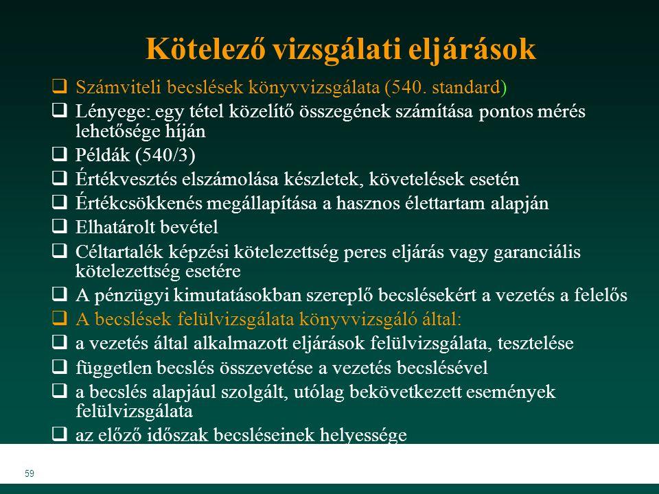 MKVK MEB 2007 59  Számviteli becslések könyvvizsgálata (540.