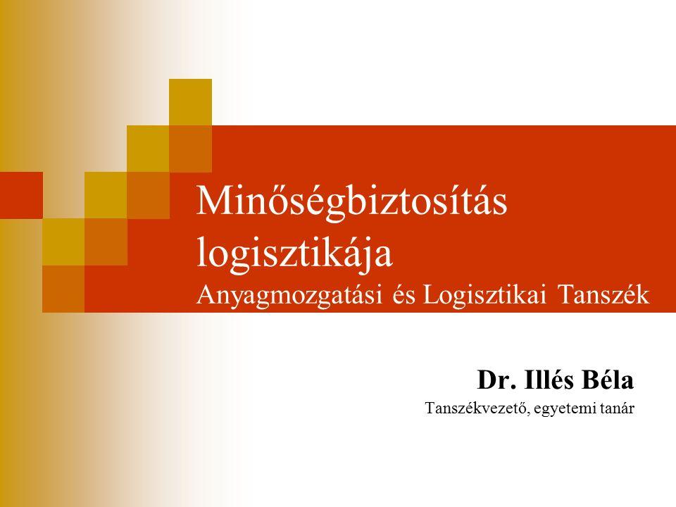 Minőségbiztosítás logisztikája Anyagmozgatási és Logisztikai Tanszék Dr. Illés Béla Tanszékvezető, egyetemi tanár