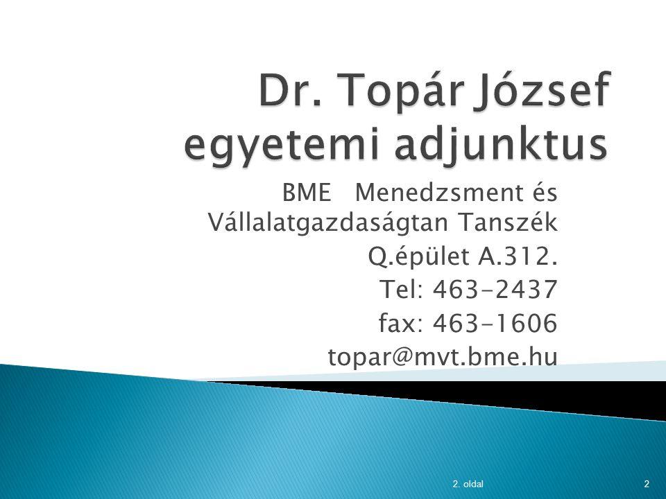 MBA, Számvitel MSc 2013-2014 I. félév 2. oldal1